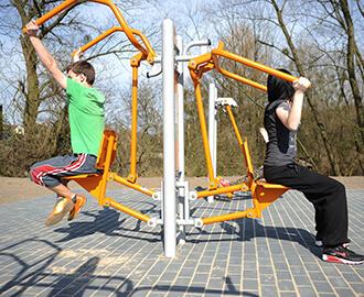 Double Column Outdoor Fitness