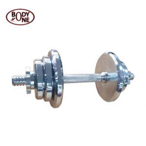Steel Chrome Plated Dumbbell Set 10Kg With Dumbbell Bar